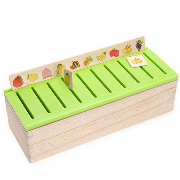 Joc Montessori In limba Romana de sortare si asociere cu 88 de piese din lemn 3