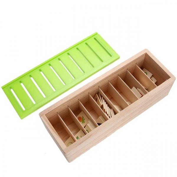Joc Montessori In limba Romana de sortare si asociere cu 88 de piese din lemn 4