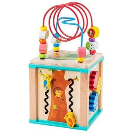 Cub Montessori din lemn cu 6 activitati [0]