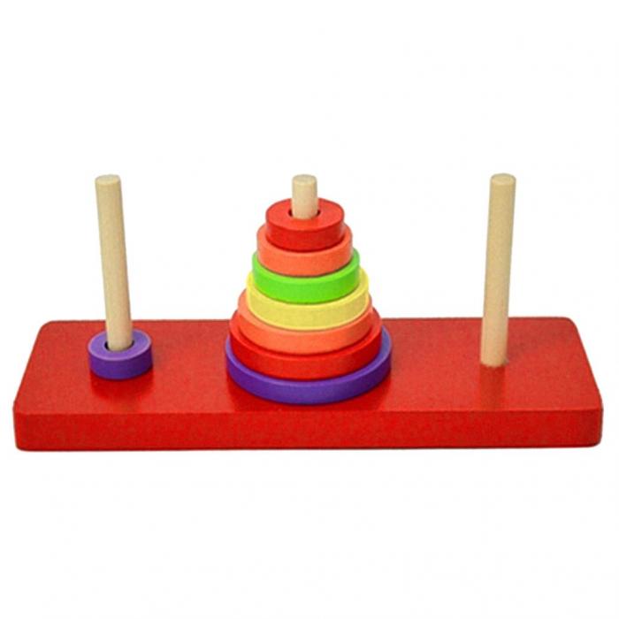 Turn cu discuri colorate din lemn si 3 coloane [0]