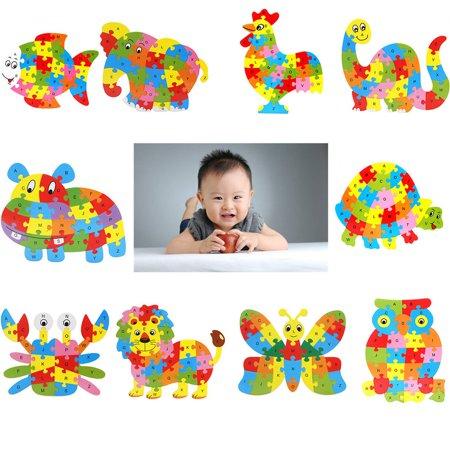 Fluture puzzle din lemn invata alfabetul si numerele 2
