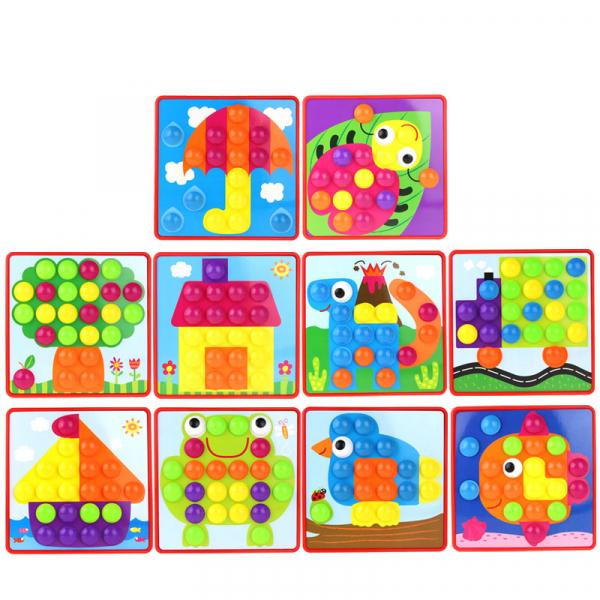 Joc mozaic Creativ pentru copii, multicolor  Button Idea 1