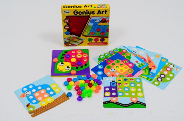 Joc mozaic Creativ pentru copii, multicolor  Button Idea 0