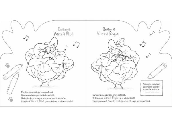 PORTIA DE CULOARE: FRUCTE SI LEGUME - CARTE DE COLORAT CU RIME 4