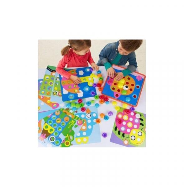 Joc mozaic Creativ pentru copii, multicolor  Button Idea 2