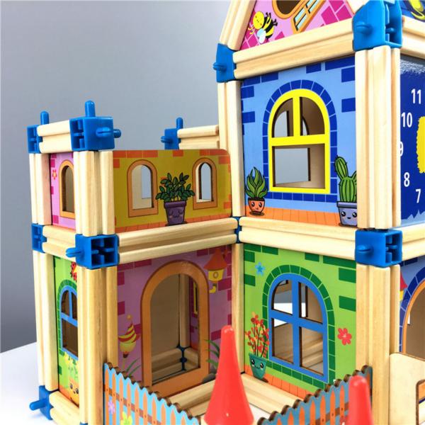 Set de constructie din lemn  Micul Arhitect -Arhitectura pentru copii 3