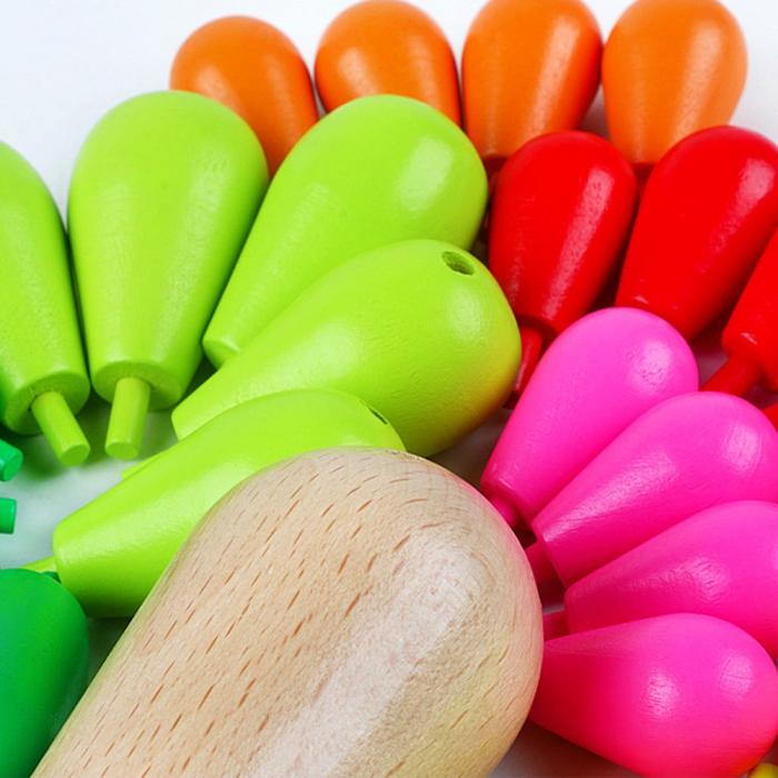 Cactus din lemn colorat-Jucarie de tip Montessori 2