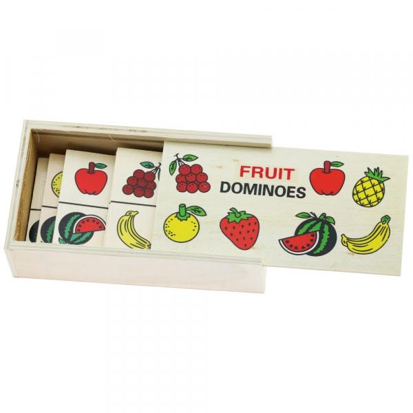 Joc domino din lemn invata fructele-legumele [3]