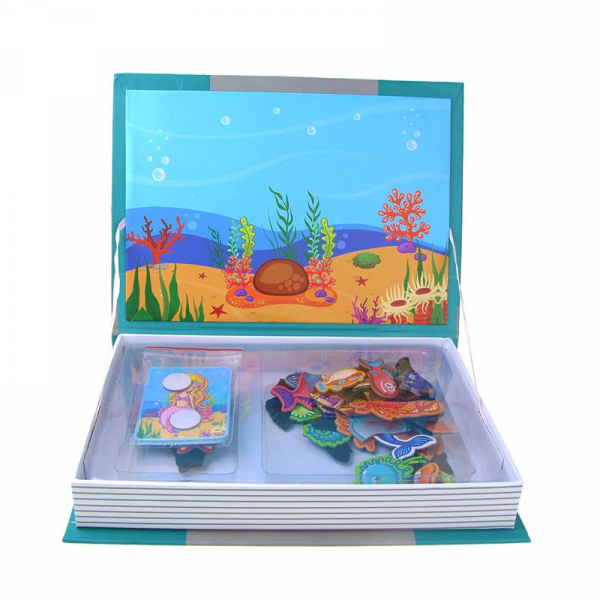 Carte magnetica Animale marine Puzzle Magnetic  Book Sea Creatures Spell 5