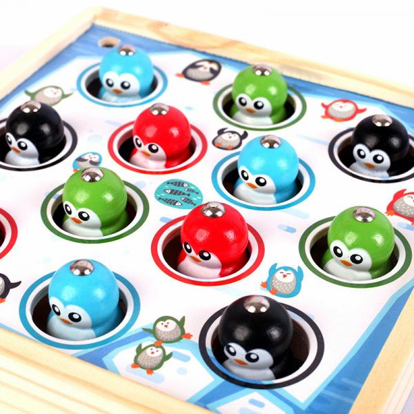 Joc lemn educativ pescuit pinguini 2