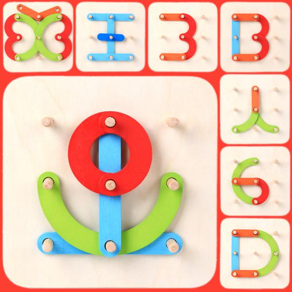 Joc Montessori placa Geoboard din lemn. [1]