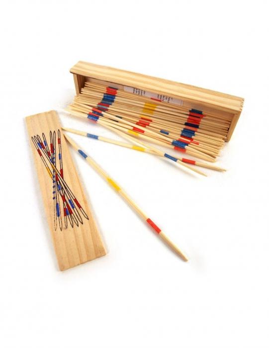 Joc cu bete si cutie  din lemn Mikado Spiel 1