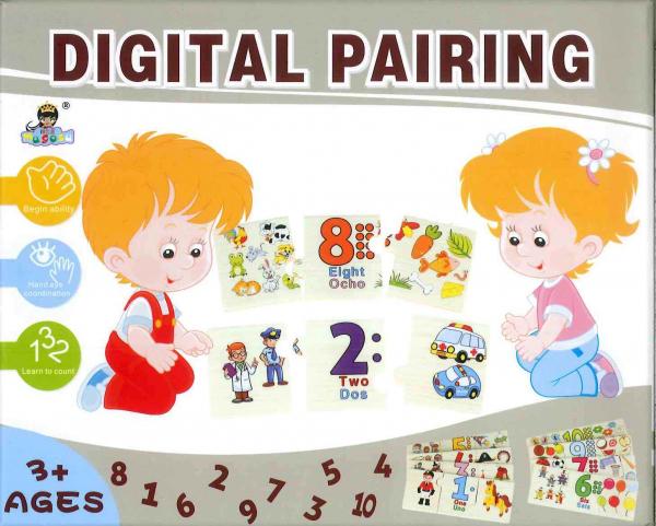 Joc Puzzle din lemn asociere si invatare matematica -Digital Pairing [2]