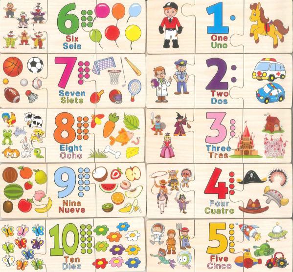 Joc Puzzle din lemn asociere si invatare matematica -Digital Pairing [1]