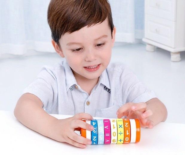 Cilindru din lemn pentru invatarea calculelor matematice -Joc Rubic de socotit [5]
