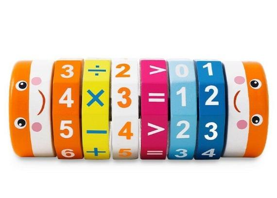 Cilindru din lemn pentru invatarea calculelor matematice -Joc Rubic de socotit [4]