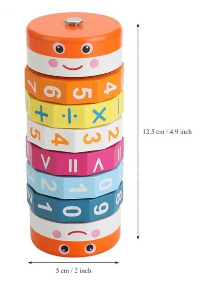 Cilindru din lemn pentru invatarea calculelor matematice -Joc Rubic de socotit [3]