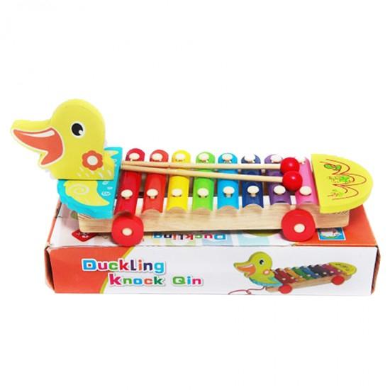 Jucarie de tras cu xilofon -model ratusca 0