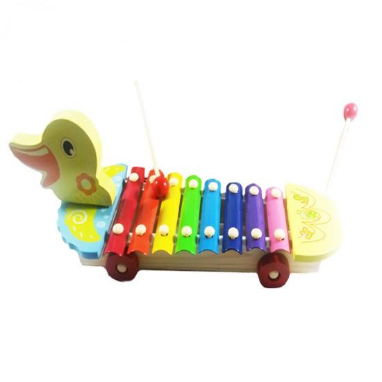 Jucarie de tras cu xilofon -model ratusca 1