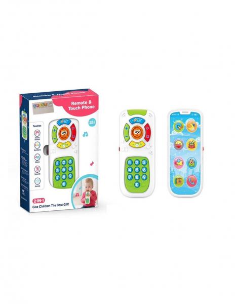Jucarie interactiva cu 2 feţe Telecomanda si Telefon Smartphone 0