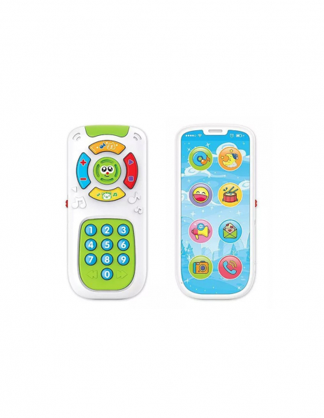 Jucarie interactiva cu 2 feţe Telecomanda si Telefon Smartphone 1