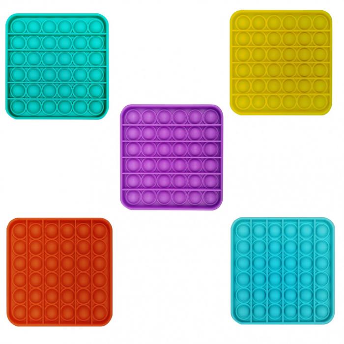 Set 2 POP IT NOW patrat  -Jucarie senzoriala anti stress copii&adulti 3