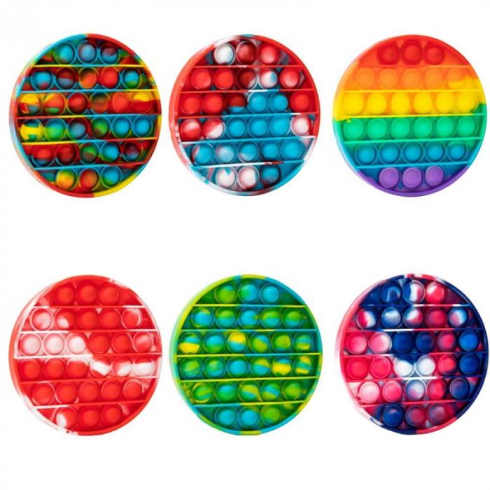 Pop It rotund multicolor -Jucarie antistress [0]