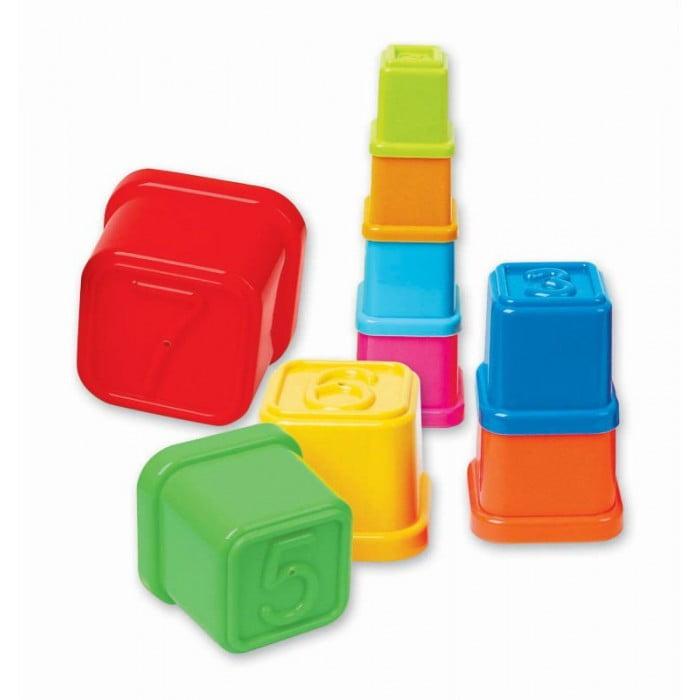Turn de stivuit multicolor -9 cupe cu numere de la 0 la 9 [1]