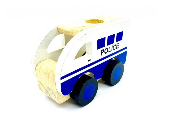 Masina de politie din lemn 0