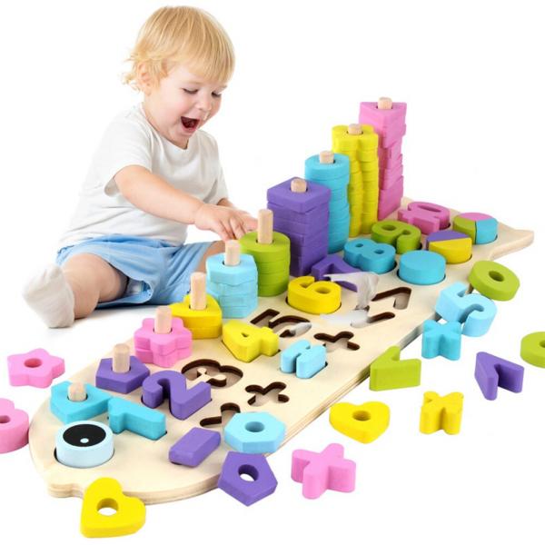 Numaratoare cu forme si numere colorate 4