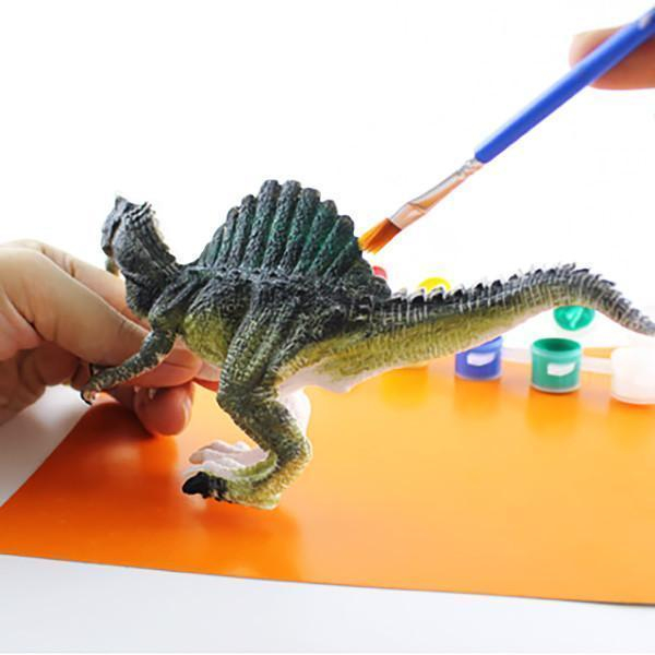 Kit Complet desen -Picteaza dinozaurul cu figurine acuarele si pensula 5