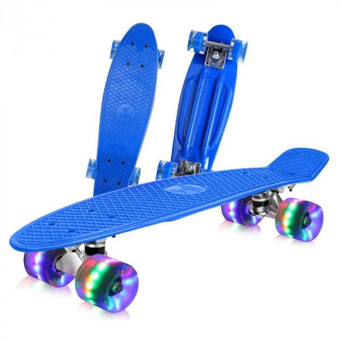 "Penny-Board 22""/55 cm cu leduri luminoase in roti - Albastru [0]"