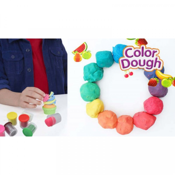 Plastilina Color Dough 4 culori  in cutie [3]