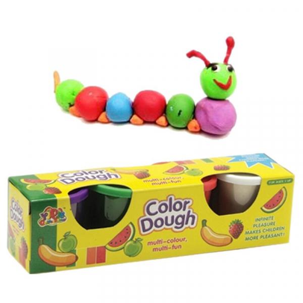 Plastilina Color Dough 4 culori  in cutie [2]