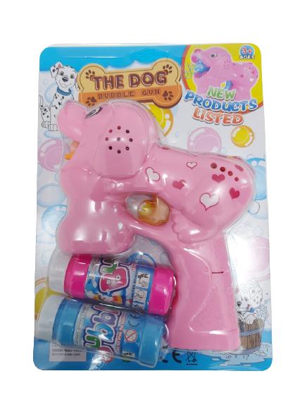 Pistol de facut bule de sapun -Model caine culoare roz [1]