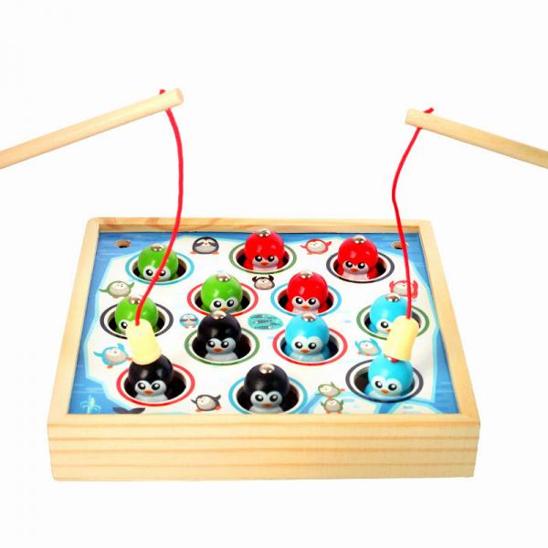 Joc lemn educativ pescuit pinguini 0