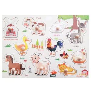 Puzzle din lemn in romana  -Invatam animalele domestice [2]