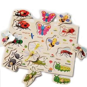 Puzzle din lemn in romana -Invatam insectele [1]