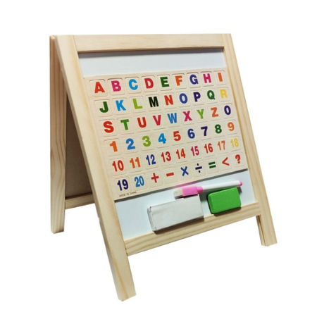 Tabla cu 2 fete pentru  scris cu creta sau marker si accesorii [0]