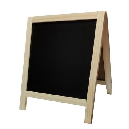 Tabla din lemn 2 in 1 cu creta marker buretecifre si litere magnetice [0]
