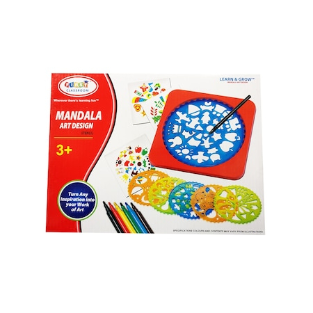 Set creativ 6 mandale din plastic cu   carioci si accesorii [2]