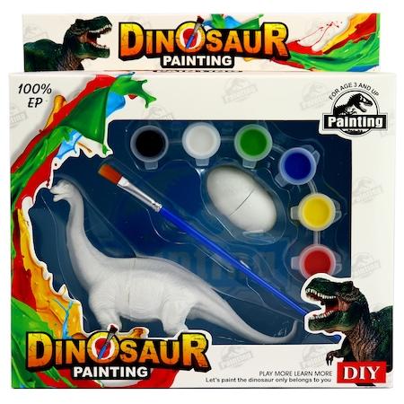 Kit Complet desen -Picteaza dinozaurul cu figurine acuarele si pensula 0