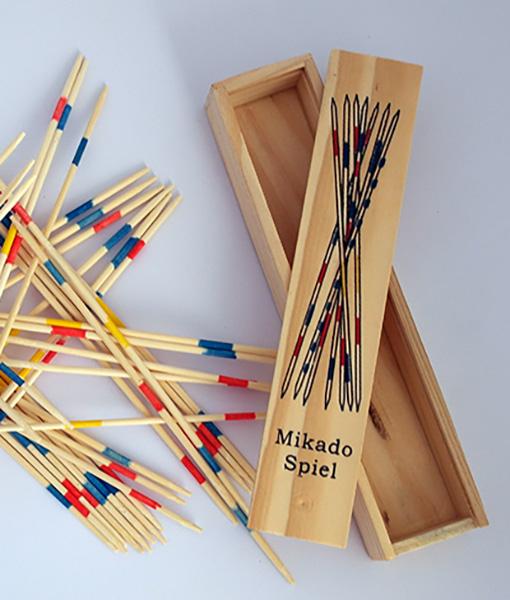 Joc cu bete si cutie  din lemn Mikado Spiel 5