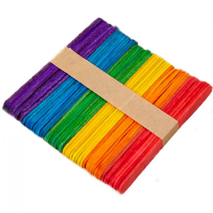 Betisoare colorate din lemn -48 de bucati [0]