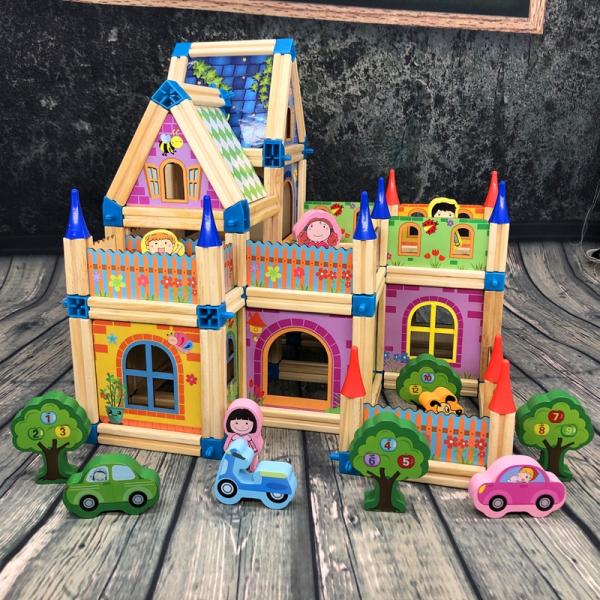 Set de constructie din lemn  Micul Arhitect -Arhitectura pentru copii 2