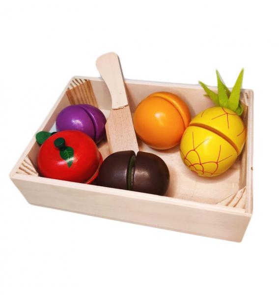 Set fructe din lemn cu magnet -feliere fructe [0]