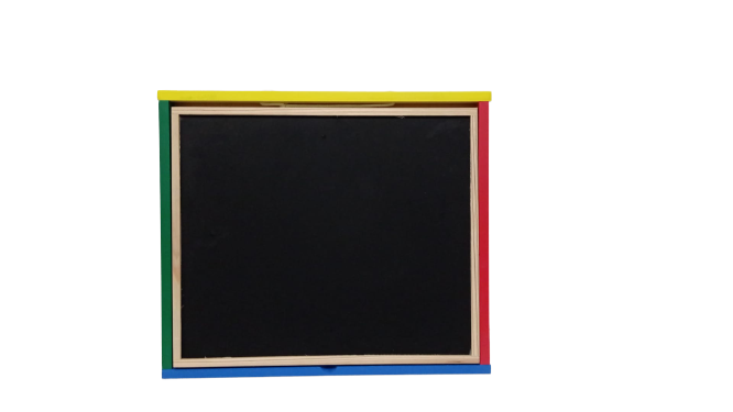 Tabla de scris Montessori pliabila cu 2 fete in cutie de lemn 40X38 [3]
