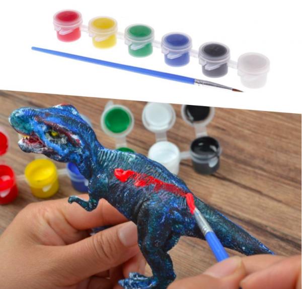 Set de Pictat culori acrilice- Coloreaza Dinozaurul 3