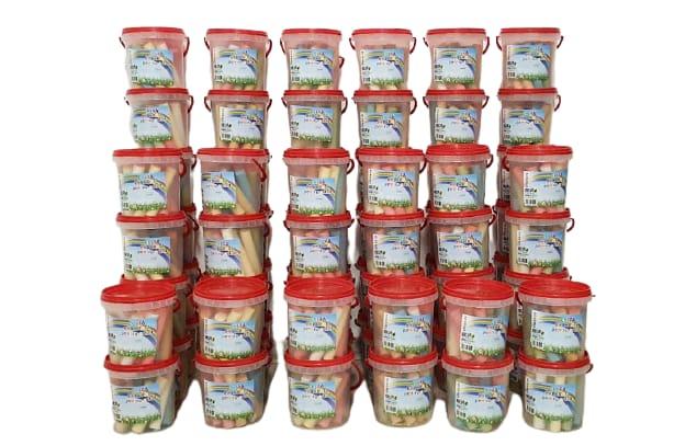 Creta colorata la cutie 1 kg pentru desen pe asfalt sau pavaj  16 bucati 2