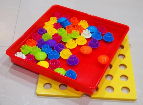 Joc mozaic Creativ pentru copii, multicolor  Button Idea 3